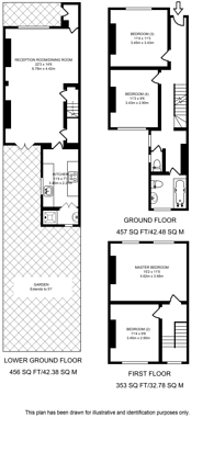 Large floorplan for Kenilworth Road, Bow, E3