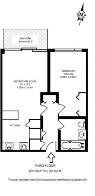 Large floorplan for Grosvenor Waterside, Chelsea, SW1W