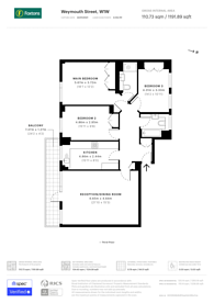 Large floorplan for Weymouth Street, Marylebone, W1W