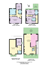Large floorplan for Lilyville Road, Parsons Green, SW6