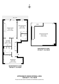 Large floorplan for Discovery Dock East, Canary Wharf, E14