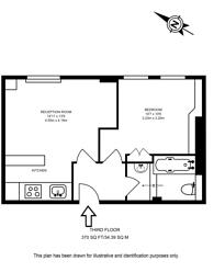 Large floorplan for Meriden Court, Chelsea, SW3