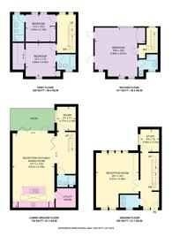 Large floorplan for Whittlebury Mews West, Primrose Hill, NW1