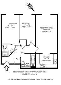 Large floorplan for Claremont Avenue, Woking, GU22