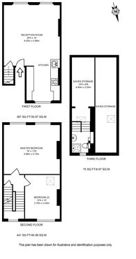 Large floorplan for Charlwood Place, Pimlico, SW1V
