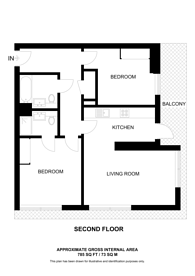 Large floorplan for Maine Tower, Canary Wharf, E14
