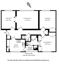 Large floorplan for Belvedere Court, Hampstead Garden Suburb, N2