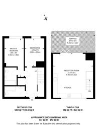 Large floorplan for Oaklands Road, Cricklewood, NW2