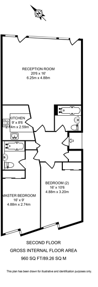 Large floorplan for Graham Street, Angel, N1