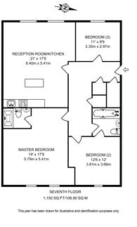 Large floorplan for Great West Road, Brentford, TW8