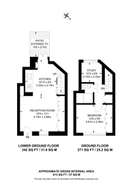 Large floorplan for Goodge Place, Fitzrovia, W1T