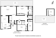 Large floorplan for Cleveland Square, Bayswater, W2