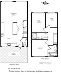 Large floorplan for Ironmonger Row, Clerkenwell, EC1V
