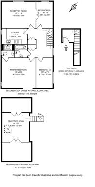 Large floorplan for Buckland Crescent, Belsize Park, NW3