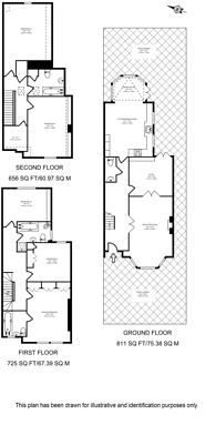Large floorplan for Burlington Road, Gunnersbury, W4
