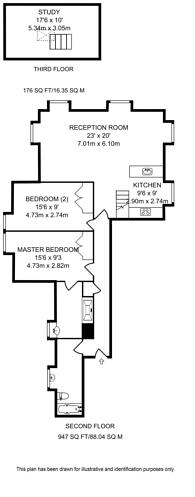 Large floorplan for West Heath Avenue, Golders Green, NW11