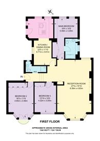 Large floorplan for Draycott Avenue, Chelsea, SW3