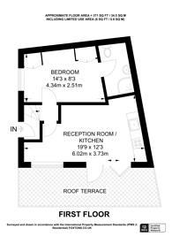 Large floorplan for Kings Cross Road, King's Cross, WC1X