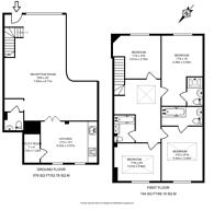 Large floorplan for Great Cumberland Mews, Marylebone, W1H