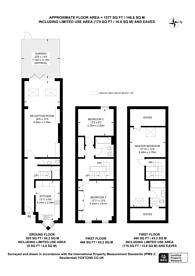 Large floorplan for Langton Place, Southfields, SW18