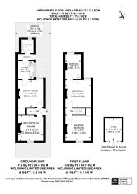 Large floorplan for Northcote Road, New Malden, KT3