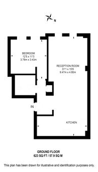 Large floorplan for Homer Street, Marylebone, W1H