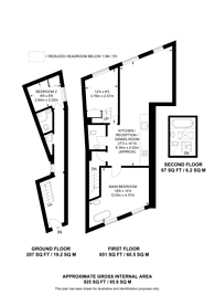 Large floorplan for Causton Street, Westminster, SW1P