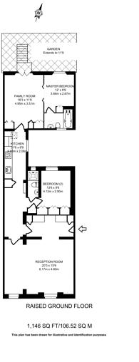 Large floorplan for Onslow Square, South Kensington, SW7