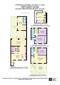 Large floorplan for Walham Grove, Fulham Broadway, SW6