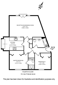 Large floorplan for Franklin Building, Canary Wharf, E14