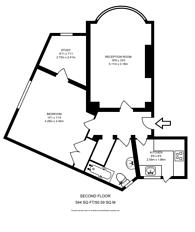 Large floorplan for Beaufort Park, Hampstead Garden Suburb, NW11