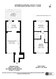 Large floorplan for Hogarth Crescent, Colliers Wood, SW19