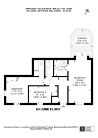 Large floorplan for Prince of Wales Terrace, Chiswick, W4