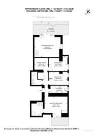 Large floorplan for Lyndhurst Road, Hampstead, NW3