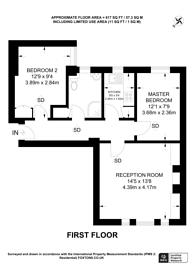 Large floorplan for Devonshire Street,, Marylebone, W1W