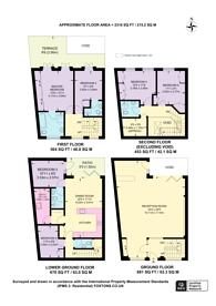 Large floorplan for Atherstone Mews, South Kensington, SW7