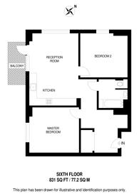 Large floorplan for Deptford Landings, Deptford, SE8