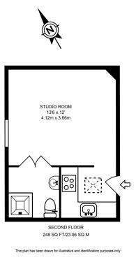Large floorplan for Telford Avenue, Telford Park, SW2