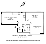 Large floorplan for Gate Street, Covent Garden, WC2A