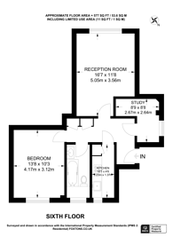 Large floorplan for Adelaide Road, Swiss Cottage, NW3