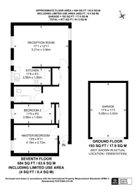 Large floorplan for Kingston Hill, Kingston, KT2