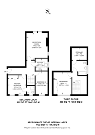 Large floorplan for Parkhill Road, Hampstead, NW3