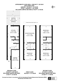 Large floorplan for Overton Close, Neasden, NW10