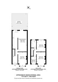 Large floorplan for Stirling Road, N22, Wood Green, N22