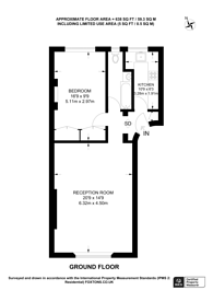 Large floorplan for Westbourne Terrace, Bayswater, W2