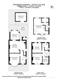 Large floorplan for Hoppingwood Avenue, New Malden, KT3