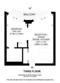 Large floorplan for Riverlight Quay, SW8, Nine Elms, SW11
