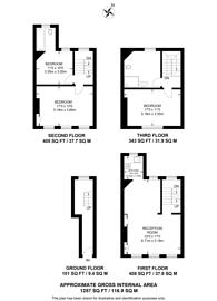 Large floorplan for St Annes Court, Soho, W1F