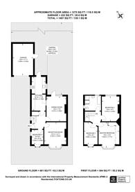 Large floorplan for South Lane, New Malden, KT3