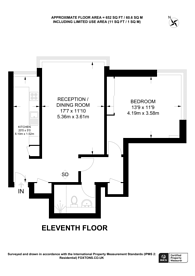 Large floorplan for Cambridge Square,, Hyde Park Estate, W2